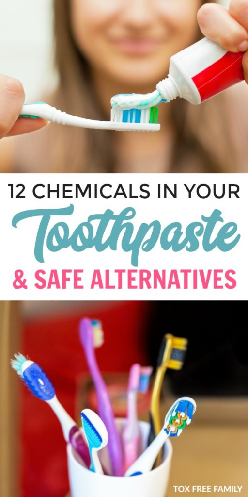 12 toxic chemicals commonly found in toothpaste. How to choose a safe toothpaste for adults and kids toothpaste without harsh chemicals.