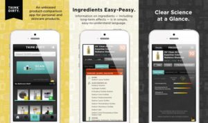 think dirty app to check for chemicals in products